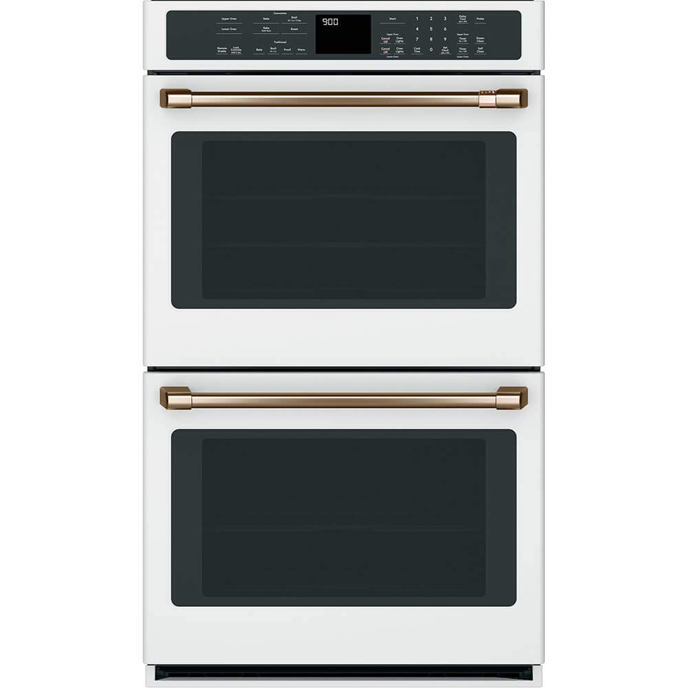 Cafe769; CTD90DP4MW2 30 Matte White Convection Double Wall Oven