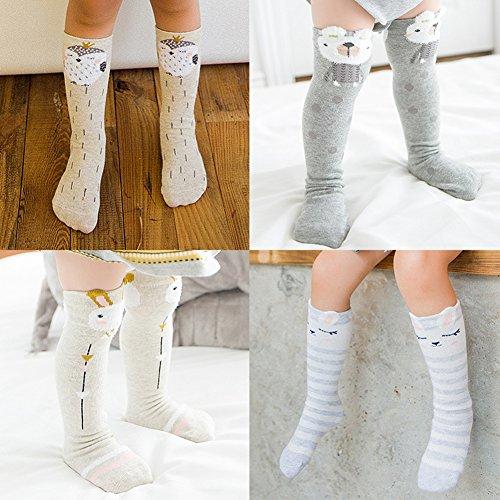 a2dfc20c7e2c7 Color City Unisex Baby Girls Socks Toddler Knee High Socks - Cartoon Animal  Warm Cotton Stockings