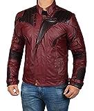 Star Distressed Leather Jacket Men's - Maroon