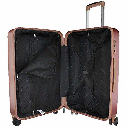 Eurotravel 4 Rollen Koffer 66cm rose
