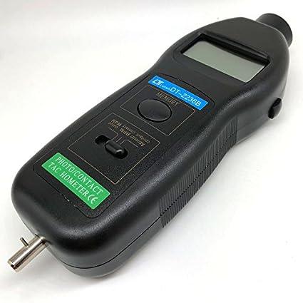 Digital tacómetro digital óptico (láser y de contacto Mecanique