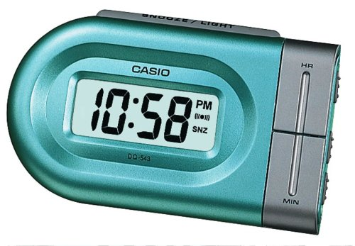 Casio - Dq-543-3Ef - Alarm Clock - Quartz - Digital - Alarm - Silver Stainless Steel Bracelet ()