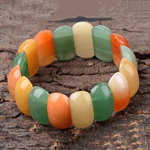 KALRTO Natural Jade Bracelet, Hand-Cut Jade Jade Bracelet, Modern Minimalist Dress Accessories, Collection/Wearing