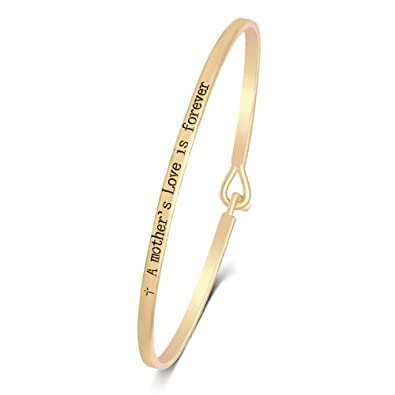 ac0e5429627 SENFAI Engraved Positive Inspirational Bracelet Stamped Cuff Bangle Width  6cm for Small Wrist (+ A