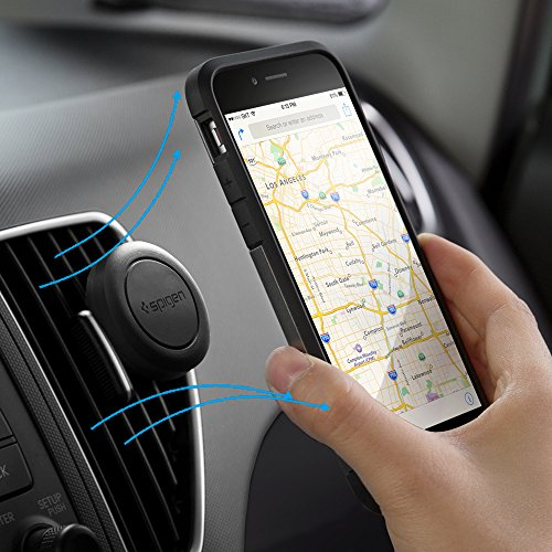 Spigen-A200-Car-Mount-Kuel-Magnetic-Air-Vent-Phone-Holder-Compatible-with-iPhone-7-7-Plus-6S-6S-Plus-Galaxy-S7-Galaxy-S7-Edge-LG-HTC-Nexus-And-More