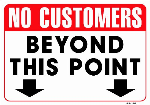 Amazon.com: NO CUSTOMERS BEYOND THIS POINT 14x20 Heavy Duty ...