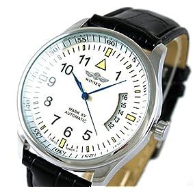VIGOROSO Men's Day Date Leahter Automatic Mechanical Sport Fashion Self-Wind Wrist Watch