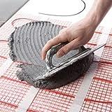 25 Sqft Mat, Electric Radiant Floor Heat Heating System with Aube Digital Floor Sensing Thermostat