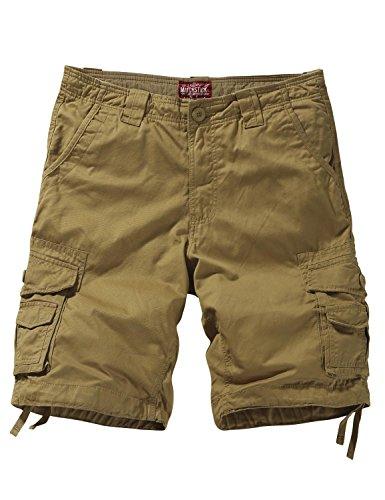 (Match Men's Twill Comfort Cargo Short Without Belt #S3612 (Label Size 3XL/38 (US 36), Classic Khaki))