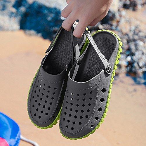Adulto Zoccoli Respiranti Sandali Scarpe da Unisex Gold Pantofole Grigio Sabot E Clogs Estate Spiaggia Casual T EAIFqx