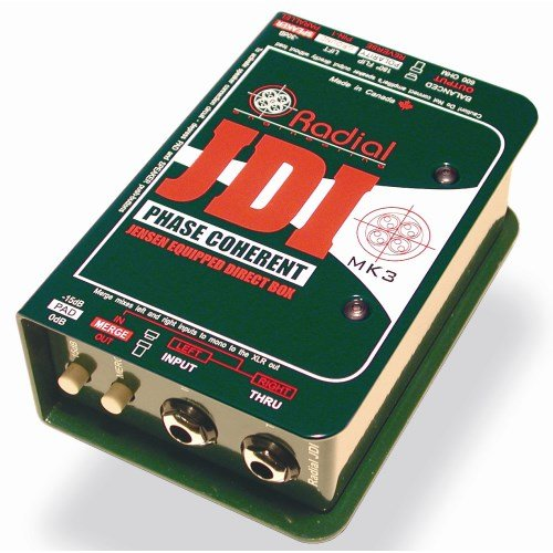 Radial Engineering R8001010JDI Single-Channel Passive Direct Box with Jensen Transformer by Radial Engineering
