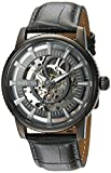Invicta Men's 'Objet d'Art' Automatic Stainless Steel and Leather Casual Watch, Color:Grey (Model: 22644)