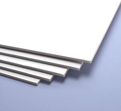 no adhesivo Blanco, 5 mm de grosor, 50x70 cm Cart/ón Pluma diferentes grosores y colores