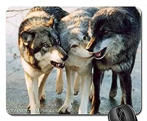 3 wolf friends Cute Cool Decorative Design Animal Dog Mousepad