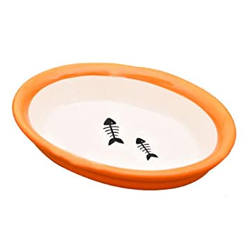 Porcelana Pescado Mascotas Tazones Perros Gatos Tazones Suministros para mascotas Accesorios para gatos - Rojo: Amazon.es: Hogar
