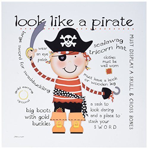(Stupell Home Décor Look Like a Pirate Wall Plaque Art, 12 x 0.5 x 12, Proudly Made in USA)