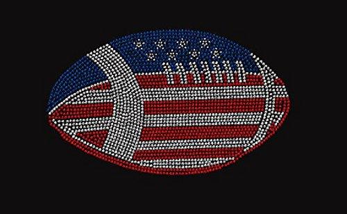 (USA Football Rhinestone Iron on Transfer)