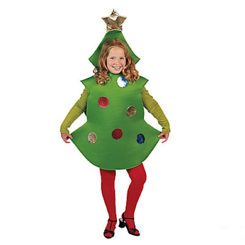 amazoncom christmas tree child costume clothing - Christmas Tree Costume