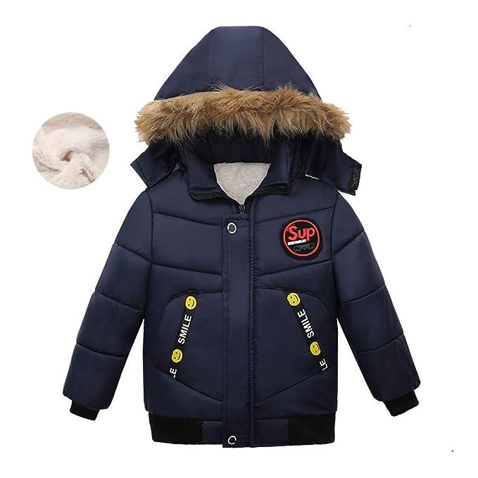 Sannysis Baby Jungen Warm Baumwolle Steppjacke Kapuze Jacke