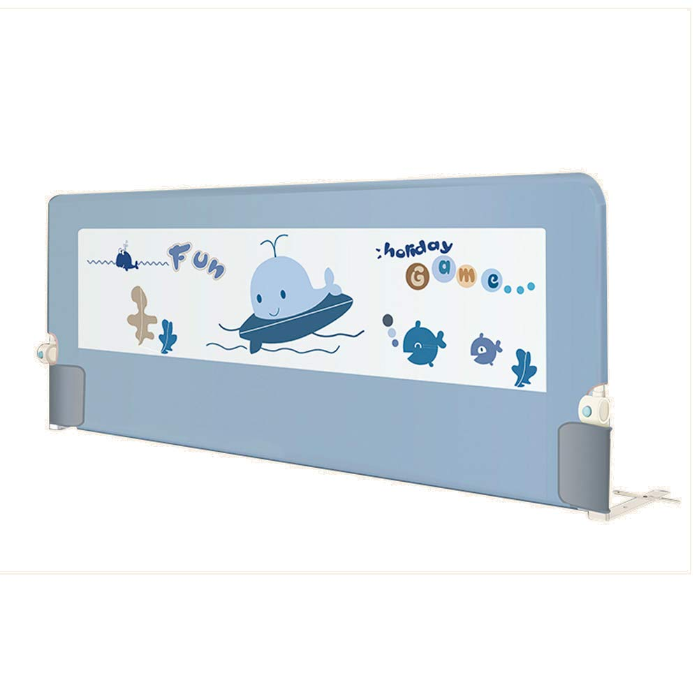 ベッドレール 折りたたむベビーベッドの手すり、アンチフォールズ調節可能な幼児のベッドサイドガード、セーフティロック付き安全スリープベビーベッドバンパー - 高75cm (サイズ さいず : 2m) 2m  B07L6G73VQ