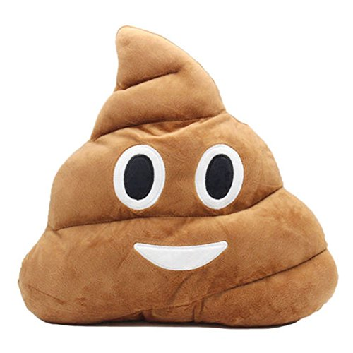 The Elixir Emoji Smiley Emoticon Round Cushion Stuffed Plush Soft Pillow Toy (Lovely Poop)]()