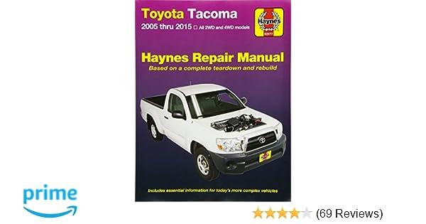 toyota tacoma 2005 thru 2015 all 2wd and 4wd models haynes repair rh amazon com 2004 toyota tacoma repair manual 2004 toyota tacoma repair manual free