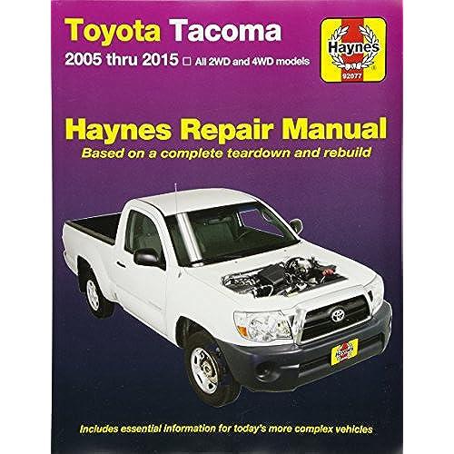 toyota repair manual amazon com rh amazon com 2011 Toyota Tacoma Repair Manuals 2010 toyota tacoma parts manual