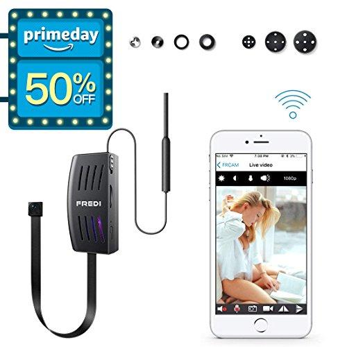 FREDI WIFI Camera, Mini Wireless Small Camera 1080P Nanny Camera