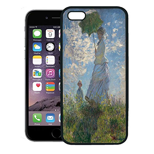 - Semtomn Phone Case for iPhone 8 Plus case,Woman Parasol Madame Monet and Her Son by Claude 1875 French Impressionist Painting Oil on Canvas iPhone 7 Plus case Cover,Black