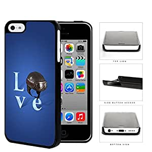 Love Air Force Brown Helmet with Royal Blue Background iPhone 5c Hard Snap on Plastic Cell Phone Case Cover