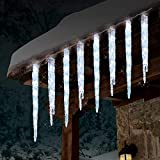 GE 19 Count Twinkling LED Ice Crystal Icicle Set 9 Feet Christmas Holiday Indoor/Outdoor Use (5)