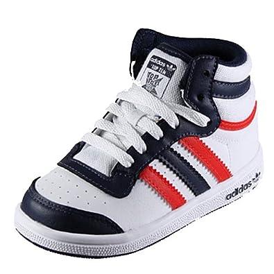 another chance 68e36 d952d Adidas TOP TEN HI I Kids Weiß-Blau-Rot Ref V24285 23 1