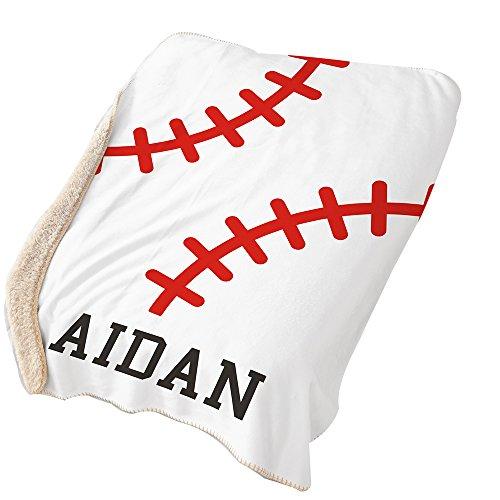 Baseball Throw Blanket - GiftsForYouNow Baseball Personalized Sherpa Blanket