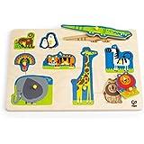 Hape Wild Animals Toddler Wooden Peg Puzzle