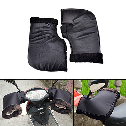 Junda Motorcycle Grip HandleBar Muff Handlebar Protective Gloves Waterproof Winter Warmer Thermal Cover Gloves