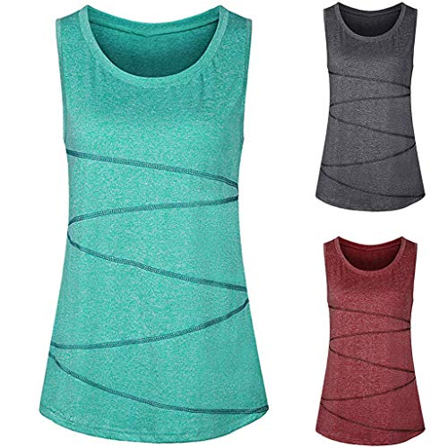 Fashion Women Sleeveless Yoga Tops Activewear Running Workout Shirt Tunic Vest Tank