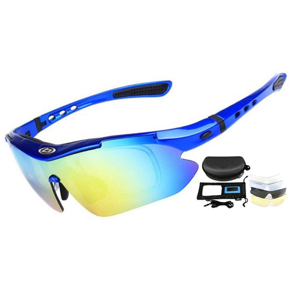 FUXIAOCHEN Professionelle Radfahren Eyewear Uv400 Polarisierte Radfahren Brille Fahrrad Brille Sonnenbrille Brille 5 Objektiv