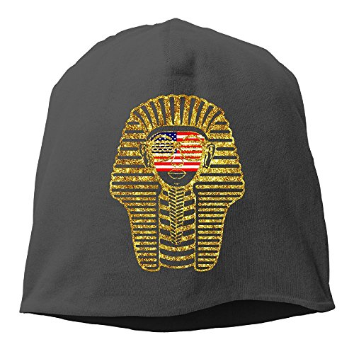 American Flag On Pharaoh Face Unisex,Women/Men Wool Hat Soft Stretch Beanies Skull Cap - Pharaoh Women