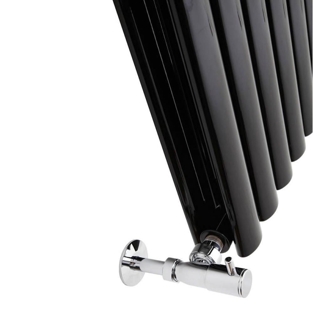 Double Rang Acier Noir Brillant 160 x 59cm Radiateur Chauffage Central Vertical Design Hudson Reed