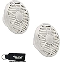 Wet Sounds Subwoofer Package: Two 10 White 4-ohm Free Air Subwoofers (SW-10FAS4-WV2)