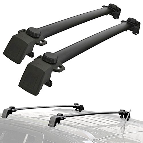 ross Bars System For JEEP Compass 2011-2016 (Pair, Black) (Roof Bar System)