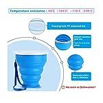 Ruesious-2Tazza-Pieghevole-Retrattile-Portabile-a-Livello-Alimentare-Senza-BPA-Silicone-Outdoor-Tazza-per-Viaggio-Campeggio-Escursionismo-e-al-Lavoro-Risparmio-Spazio-Blu-e-Rossa