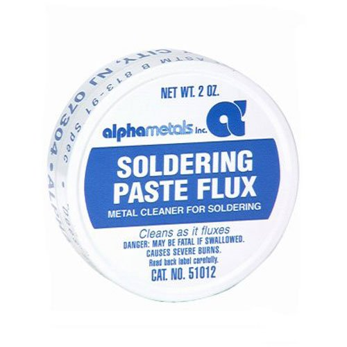 ALPHA METALS AM51012 Leaded Acid Paste, 2 oz
