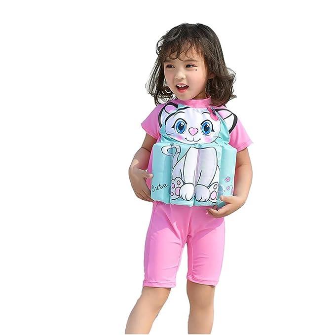 Yishelle Princess - Bañador Flotante Ajustable de una Pieza para niñas con Flotador Rosa para Principiantes: Amazon.es: Hogar