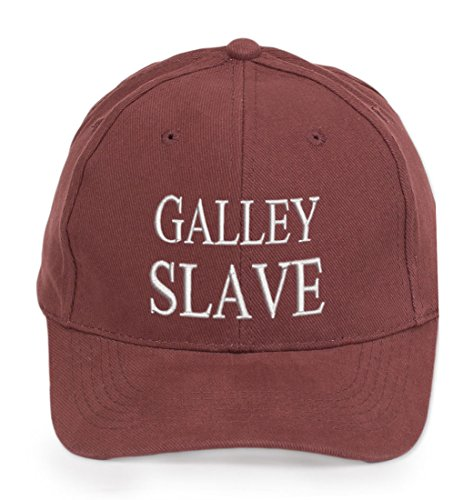 4Sold Ancient Mariner  Captain Cabin Boy Crew First Mate Yachting Baseball Cap Inscription Lettering Maroon White  Galley Slave