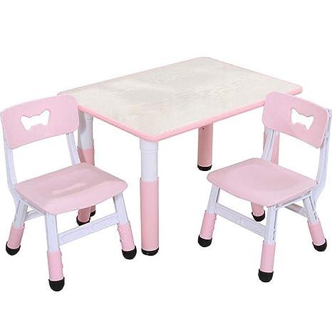 Amazon.com: Mesa de estudio para niños y sillas, mesa de ...