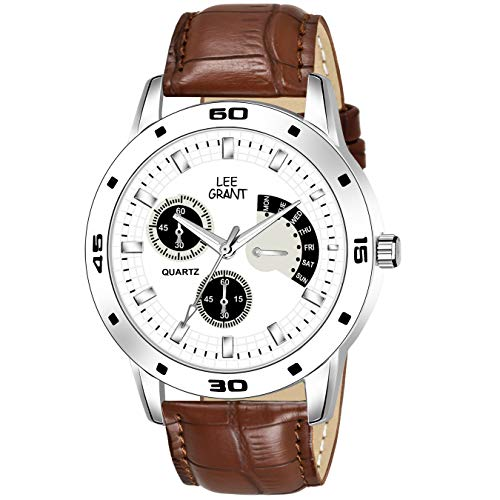 Lee Grant Analog White Dial Men #39;s Watch   Sl1106 Wh