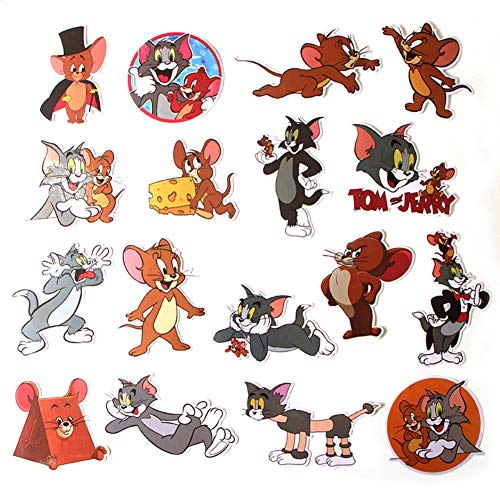 Cartoon Show Tom and Jerry Themed 17 Piece Sticker for sale  Delivered anywhere in USA