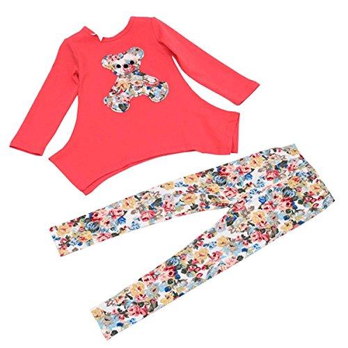 Zeagoo Korean Style Girl Children's Long Sleeve O-neck Top T-shirt Pant