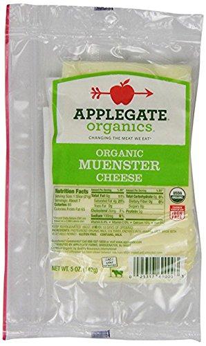 Applegate, Sliced Organic Muenster Cheese, 5 oz